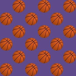 One Inch Basketball Balls on Ultra Violet Purple