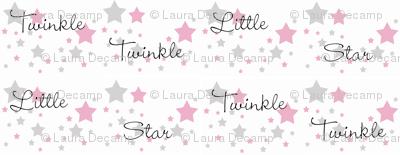 Pink Twinkle Little Star Gray Grey