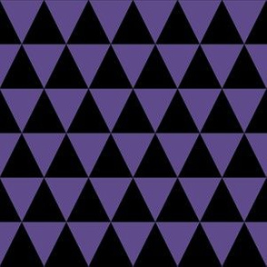 One Inch Ultra Violet Purple and Black Triangles