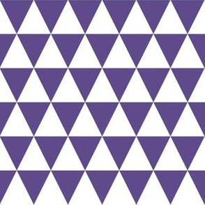 One Inch Ultra Violet Purple and White Triangles