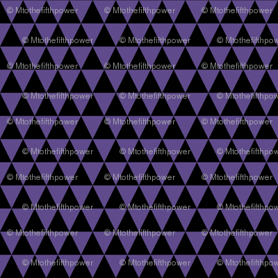 Half Inch Ultra Violet Purple and Black Triangles
