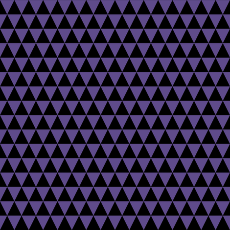 Half Inch Ultra Violet Purple and Black Triangles fabric by mtothefifthpower on Spoonflower - custom fabric
