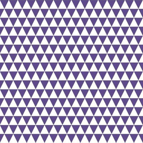 Half Inch Ultra Violet Purple and White Triangles