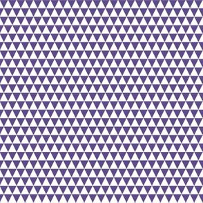 Quarter Inch Ultra Violet Purple and White Triangles