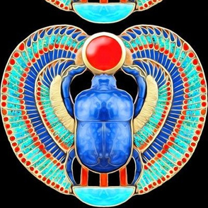 ancient egypt egyptian myths mythology legends gold sun solar disk royalty colorful wings scarab beetles dung insects imperial king tut Tutankhamun  royal lapis lazuli pharaoh