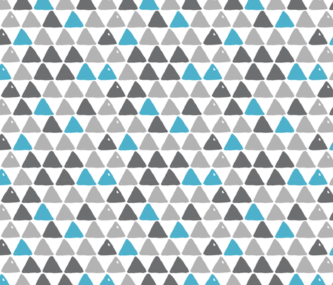 Blue-Triangles fabric by portage_and_main on Spoonflower - custom fabric