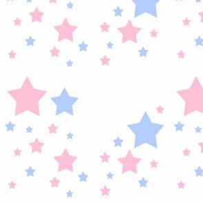 Pink White Blue Stars Patriotic