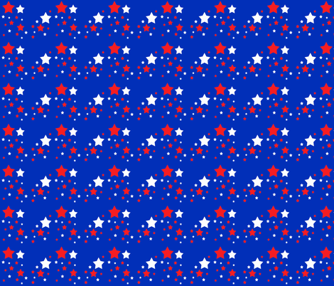 Red White Blue Stars fabric by decamp_studios on Spoonflower - custom fabric