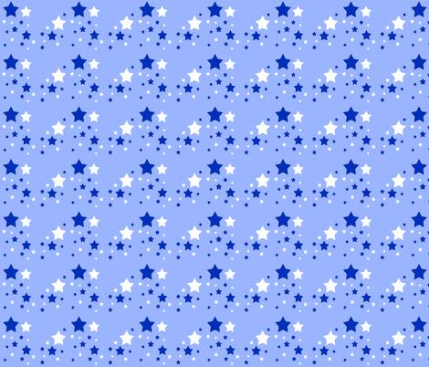 Stars White Blue Sky Navy   fabric by decamp_studios on Spoonflower - custom fabric