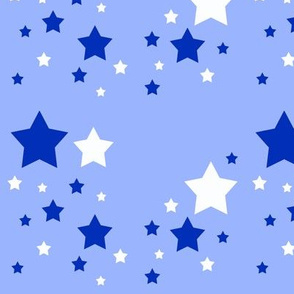 Stars White Blue Sky Navy
