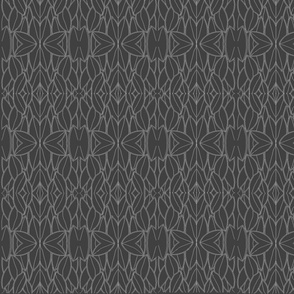 Floral Fretwork Charcoal