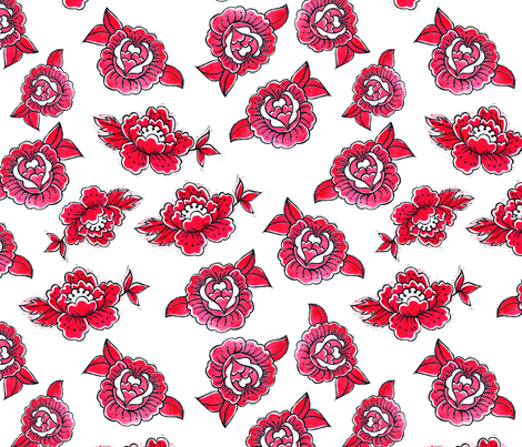 Motif-TAT-FLEUR-01 fabric by dagreedyshop on Spoonflower - custom fabric
