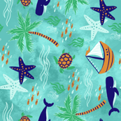 Tropical Whales and Sailboats