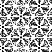 HUGE Illustrated Black and White Abstract Floral Coloring  Book