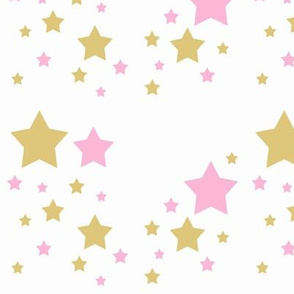 Pink Gold Star Girl Nursery