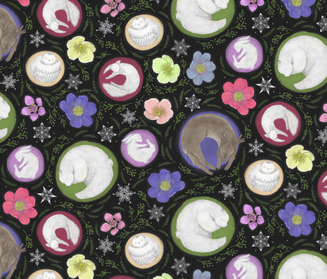 Hibernating Arctic Animals fabric by landpenguin on Spoonflower - custom fabric