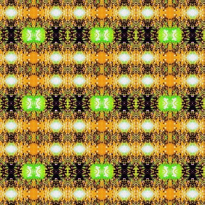 Kente cloth in gold and green