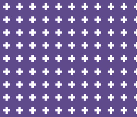 2018 color of the year ultra violet cross + fabric by misstiina on Spoonflower - custom fabric