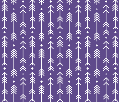 2018 color of the year ultra violet cross plus arrows fabric by misstiina on Spoonflower - custom fabric
