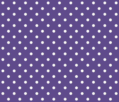 2018 color of the year ultra violet polka dots fabric by misstiina on Spoonflower - custom fabric