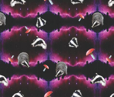 space badger fabric by b0rwear on Spoonflower - custom fabric