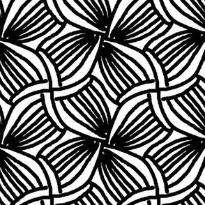 Abstract Black and White Four Leaf Floral || Leaves Flower Coloring Book _ Miss Chiff Designs