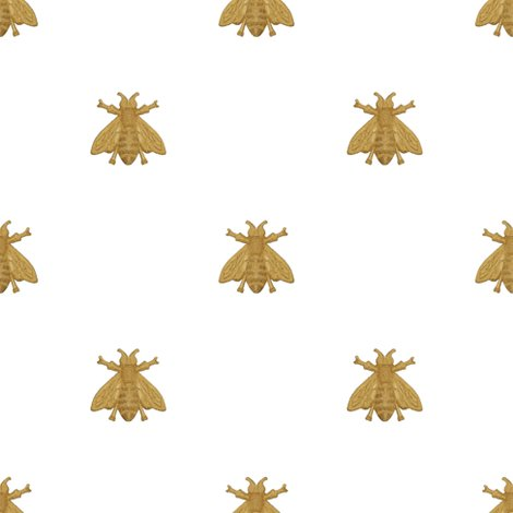 Rnapoleonic-bees-gilt-on-white-peaocoquette-designs-copyright-2016_shop_preview