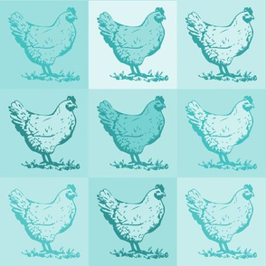 Pop Chickens - Teal