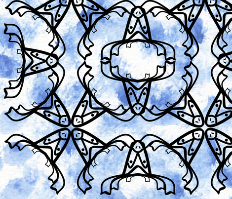 Moose blues fabric by lacasademurcia on Spoonflower - custom fabric