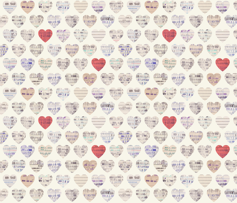 Library  Love fabric by lellobird on Spoonflower - custom fabric