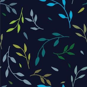 vine pattern - navy