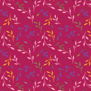 Vine pattern - pink