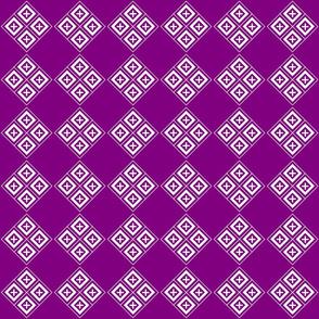Tiled Diamond Crosses on Purple