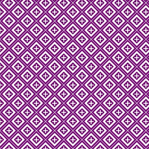 Diamond Crosses on Purple