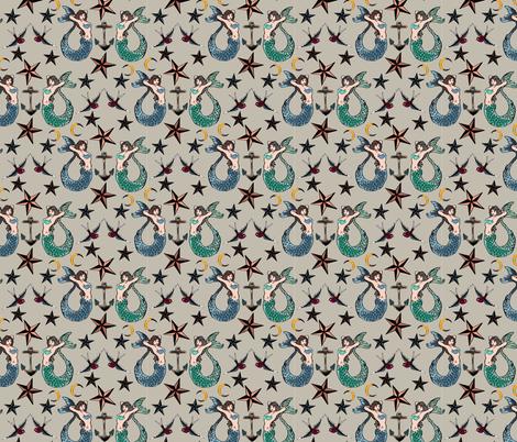 Mermaid Flash fabric by brooklynsouthern on Spoonflower - custom fabric