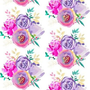 """Purple and Gold Floral Bouquet 1 4"""""""