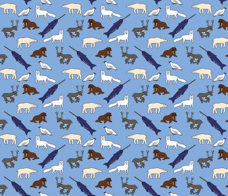 arctic animals1 fabric by susietheoctopus on Spoonflower - custom fabric