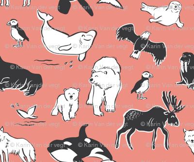Arctic animals - pink