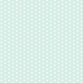 Little Tiny White Polka Dots on Mint Green Spots
