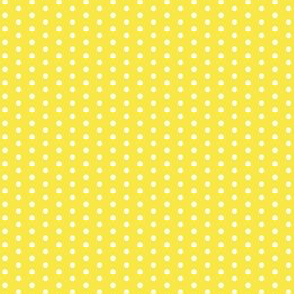 Little Tiny White Polka Dot on Lemon Sunshine Yellow || Spots and drops _ Miss Chiff Designs