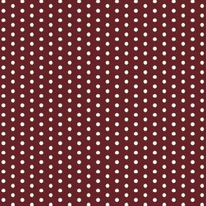 Tiny Little Red Wine Maroon Polka Dots Spots