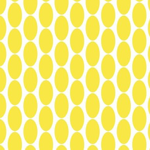 Lemon Sunshine yellow large oval polka dot || Home Decor _ Miss Chiff Designs