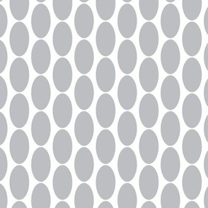 Large Grey Gray white  oval polka dots. Gray on white || Miss Chiff Designs  home decor.