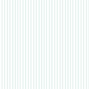 Pin Stripe pinstripe Mint Green Aqua on white