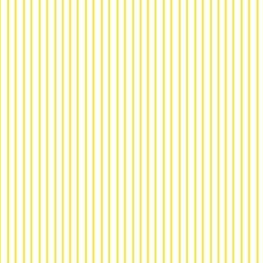 17-07B Pin Stripe pinstripe white on Lemon sun yellow  ||  Home Decor