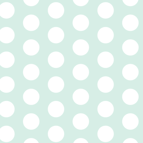 Mint Green White Polka Dot Large || retro christmas _ Miss CHiff Designs  fabric by misschiffdesigns on Spoonflower - custom fabric
