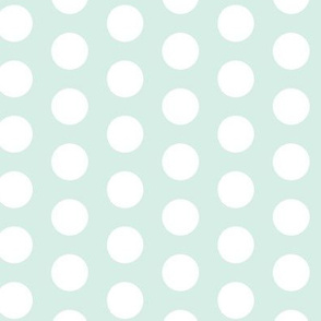 Mint Green White Polka Dot Large || retro christmas _ Miss CHiff Designs