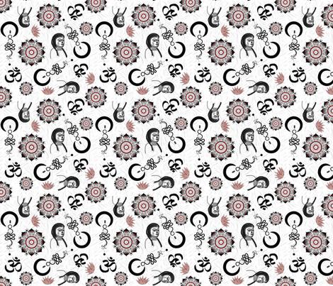 Yogi Tatts fabric by gargoylesentry on Spoonflower - custom fabric
