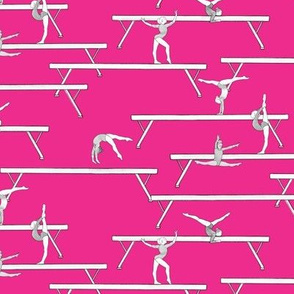 Balance Beam on Bright Pink