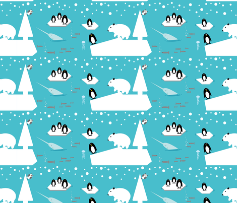 animals of the arctic world fabric by alandco on Spoonflower - custom fabric